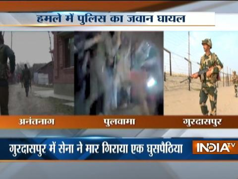 Incursion bid foiled in Gurdaspur and minister's home attacked in Jammu-Kashmir