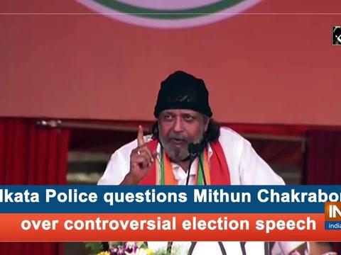 Kolkata Police questions Mithun Chakraborty over controversial election speech