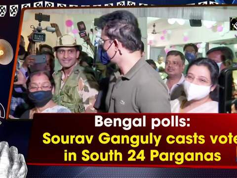 Bengal polls: Sourav Ganguly casts vote in South 24 Parganas