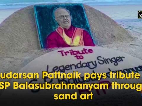 Sudarsan Pattnaik pays tribute to SP Balasubrahmanyam through sand art