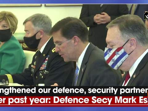 Strengthened our defence, security partnership over past year: Defence Secy Mark Esper