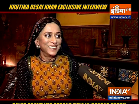 TV Actress Krutika Desai Khan talks about her strong character in 'Pandya Store'
