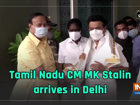 Tamil Nadu CM MK Stalin arrives in Delhi