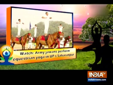 Watch: Army jawans perform equestrian yoga in UP's Saharanpur