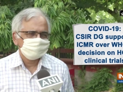 COVID-19: CSIR DG supports ICMR over WHO's decision on HCQ clinical trials