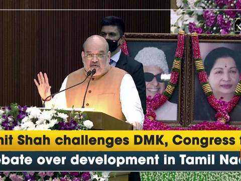 Amit Shah challenges DMK, Congress for debate over development in Tamil Nadu