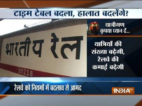 Indian Railway train timings to be changed from today