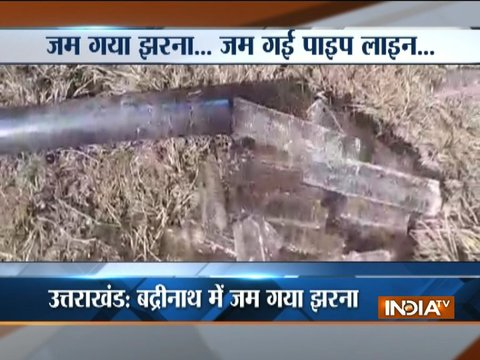 Water bodies starts to freeze as temperature dip in Uttarakhand
