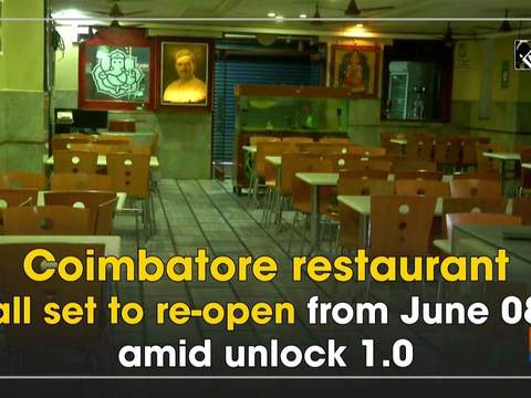 Coimbatore restaurant all set to re-open from June 08 amid unlock 1.0