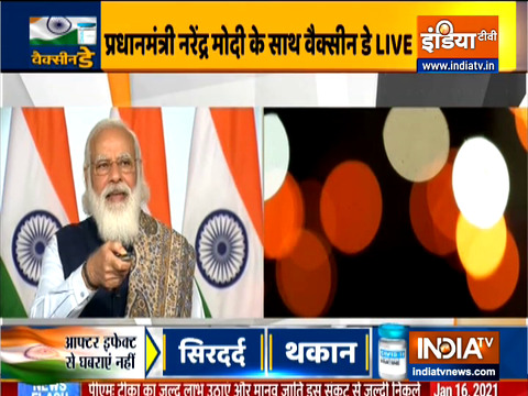 PM Modi launches nation-wide vaccination drive against COVID-19, via video conference