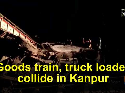 Goods train, truck loader collide in Kanpur