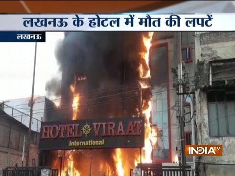 Lucknow: Major fire breaks out in Charbagh's SSJ International hotel, 5 dead