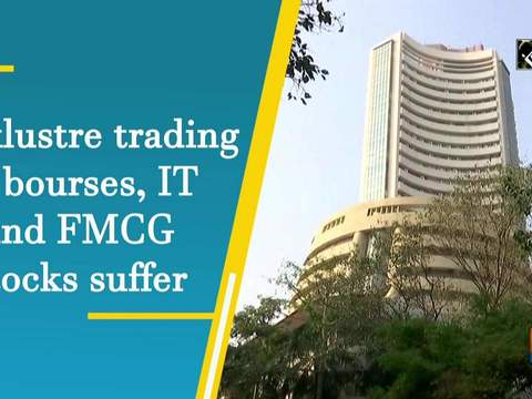 Lacklustre trading at bourses, IT and FMCG stocks suffer