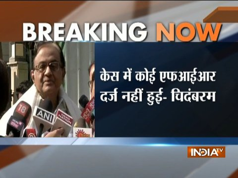 There is no FIR concerning a scheduled crime by CBI or any agency, says P.Chidambaram