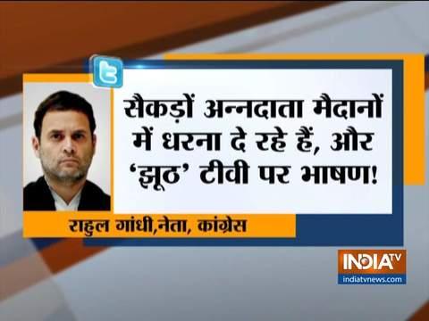 Rahul Gandhi attacks PM Modi over farmers' protests