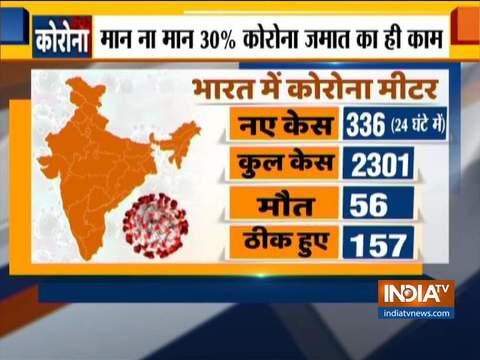 336 ताजा मामलों के साथ, भारत में कोरोनोवायरस के कुल मामले 2301 तक बढ़े