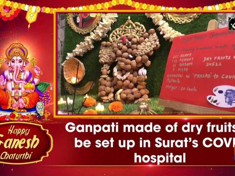 Ganpati made of dry fruits to be set up in Surat's COVID hospital