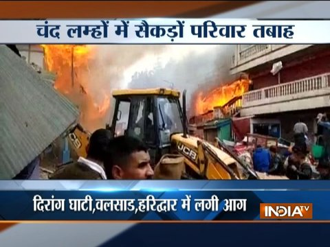 Fire broke out in a chemical company in Valsad, houses & shops gutted in a fire in Arunachal's Dirang