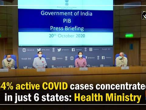 64% active COVID cases concentrated in just 6 states: Health Ministry