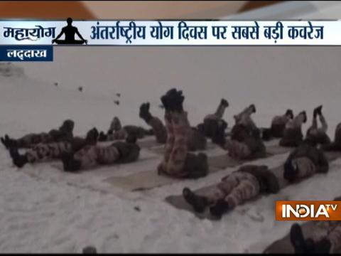 Yoga Day 2017: ITBP jawans perform Yoga at -25 degrees in Ladakh