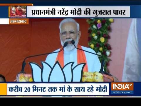 A glimpse of PM Modi's Gujarat visit following Lok Sabha poll victory
