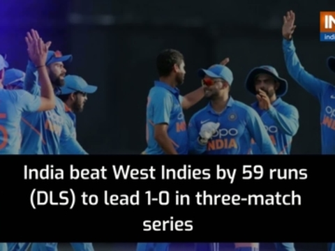 India beat West Indies by 56 runs (DLS) to take 1-0 lead in ODI series