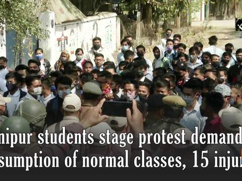 Manipur students stage protest demanding resumption of normal classes, 15 injured