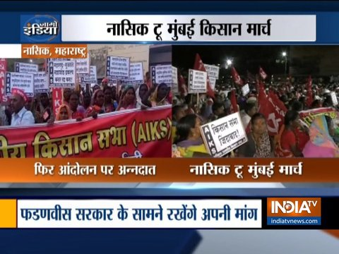 Farmers Protest: 50000 farmers reach Nashik, march to Mumbai from today