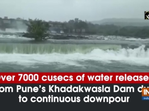 Over 7000 cusecs of water released from Pune's Khadakwasla Dam