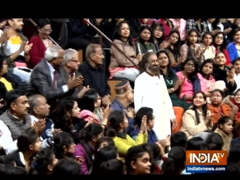 Will go and talk to Shaheen Bagh protestors at the 'right time': Sri Sri on Aap Ki Adalat