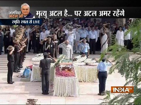 दिल्ली के स्मृति स्थल में पूर्व प्रधानमंत्री अटल बिहारी वाजपेयी को दी गयी अंतिम विदाई (पार्ट -1)