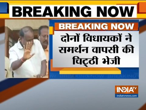 कर्नाटक में निर्दलीय विधायकों ने वापस लिया समर्थन, BJP विधायकों का दिल्ली में डेरा