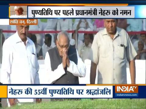 Congress leaders pay homage to Jawaharlal Nehru on 55th death anniversary