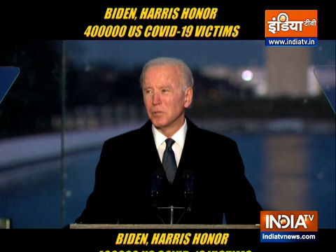 Biden, Harris honor 400,000 US COVID-19 victims