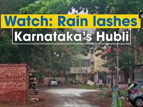 Watch: Rain lashes Karnataka's Hubli