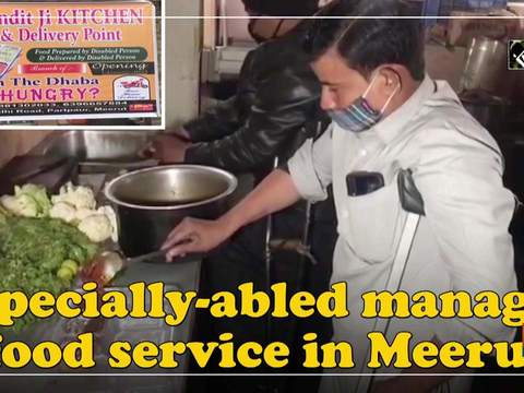 Specially-abled manage food service in Meerut