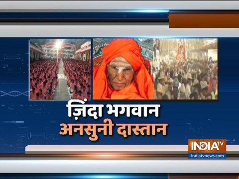 कर्नाटक: शिवकुमार स्वामी को अंतिम विदाई देने उमड़े हजारों लोग