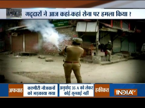 J&K: Clashes erupt between protesters, security forces over rumours of scrapping Article 35A