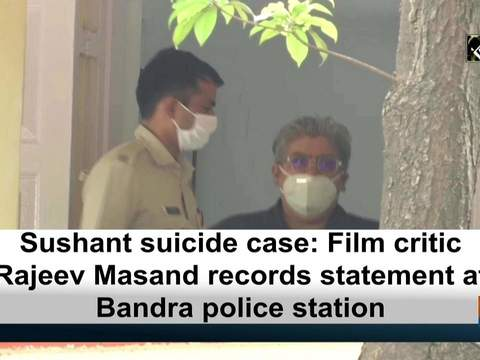Sushant suicide case: Film critic Rajeev Masand records statement at Bandra police station