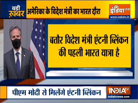 US Secretary of State Blinken on two-days visit to India from today