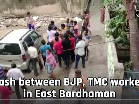 Watch: Clash between BJP, TMC workers in East Bardhaman