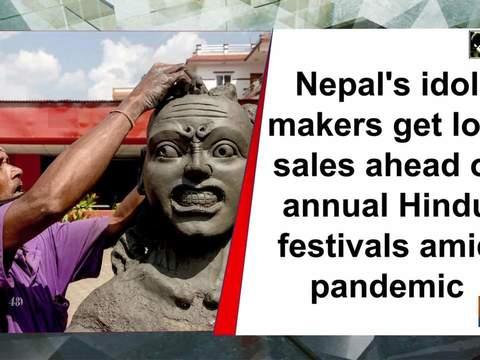 Nepal's idol makers get low sales ahead of annual Hindu festivals amid pandemic