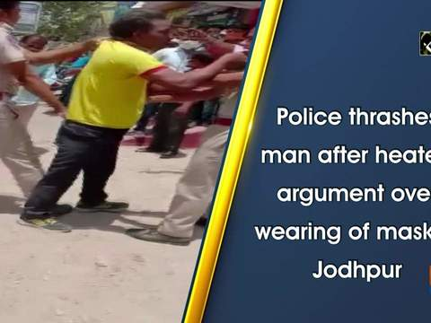 Police thrashes man after heated argument over wearing of mask in Jodhpur