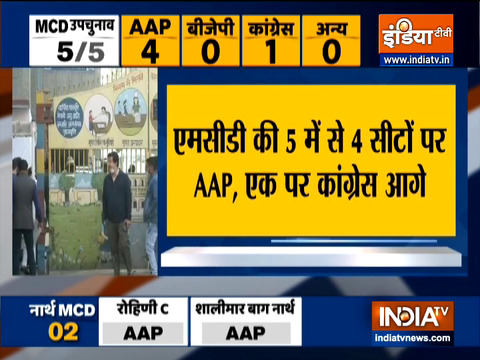 Delhi: Counting of votes for MCD by-poll in 5 wards underway