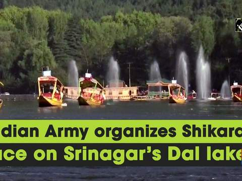 Indian Army organizes Shikara race on Srinagar's Dal lake