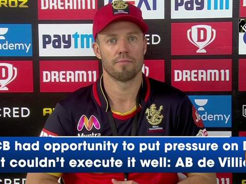 RCB had opportunity to put pressure on DC but couldn't execute it well: AB de Villiers