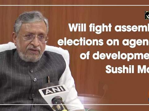 Will fight assembly elections on agenda of development: Sushil Modi