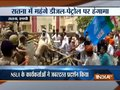 Satna: NSUI workers protest over petrol price hike, police fire water cannons to control protest