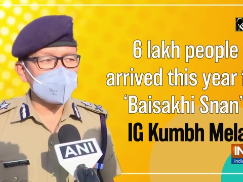 6 lakh people arrived this year for 'Baisakhi Snan': IG Kumbh Mela