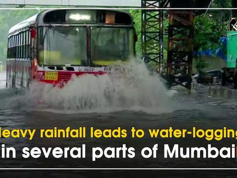 Heavy rainfall leads to water-logging in several parts of Mumbai